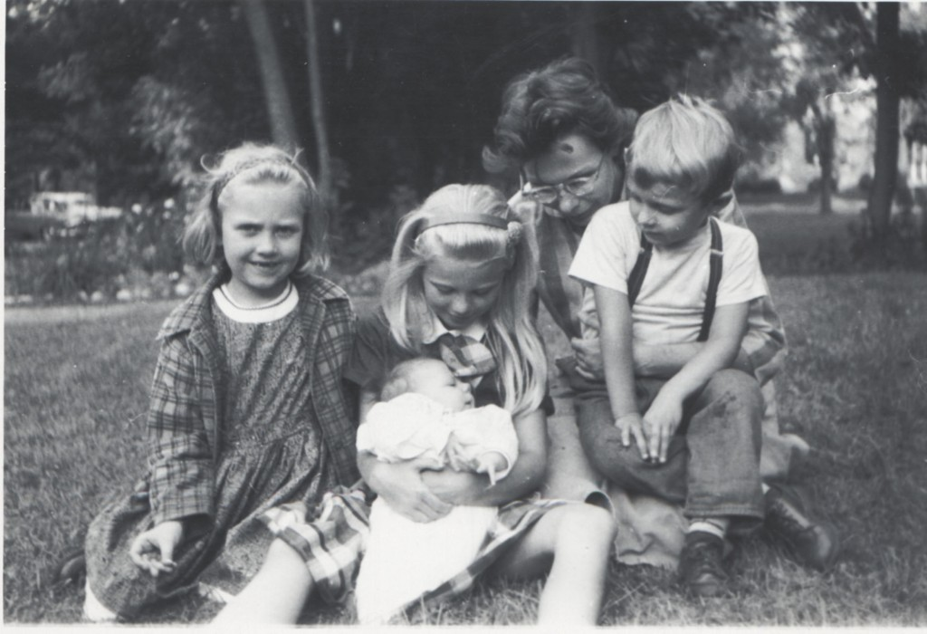 Black and white photograph of Park family.